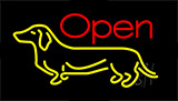 Dog Open LED Neon Sign