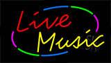Multicolored Live Music Neon Sign