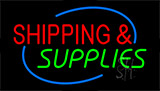 Shipping And Supplies Neon Sign