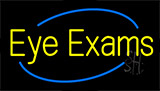 Yellow Eye Exams Neon Sign