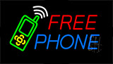Free Phone With Logo Neon Sign
