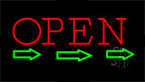 Open Arrows Neon Sign