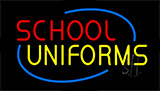 Red School Yellow Uniforms Neon Sign