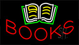 Books With Logo Neon Sign