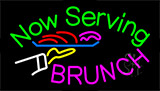 Now Serving Brunch Neon Sign