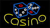 Casino With Dice Neon Sign