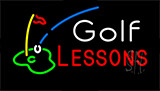 Golf Lessons Neon Sign
