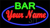Custom Green Bar Blue Border LED Neon Sign