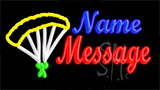 Custom In Cursive Parachute LED Neon Sign