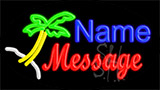 Custom Palm Tree Logo 1 LED Neon Sign