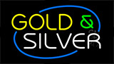Gold And Silver Neon Sign