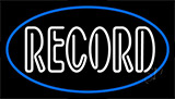 White Colored Records 1 Neon Sign