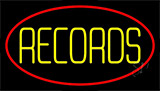 Yellow Records Red Border 2 Neon Sign