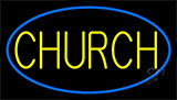 Blue Church Neon Sign