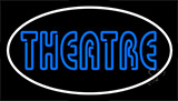 Blue Theatre White Border Neon Sign
