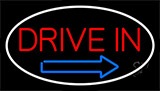 Drive In Arrow With Border Neon Sign
