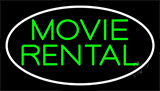 Green Movie Rental Neon Sign