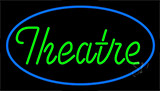 Green Theatre With Border Neon Sign