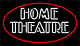 Home Theatre With Border Neon Sign