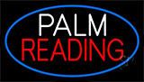 Palm Reading Blue Border Neon Sign