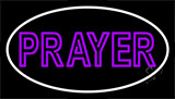 Purple Prayer With Border Neon Sign