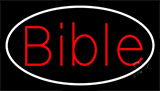 Red Bible With Border Neon Sign