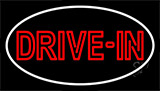 Red Drive In With White Border Neon Sign