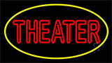 Red Theater With Border Neon Sign