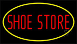 Shoe Store With Neon Sign