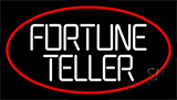 White Fortune Teller With Red Border Neon Sign
