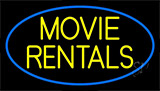 Yellow Movie Rentals Neon Sign