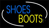Blue Shoes Yellow Boots Neon Sign