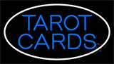 Blue Tarot Cards With Blue Border Neon Sign