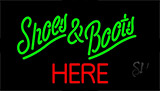 Green Shoes And Boots Red Here Neon Sign