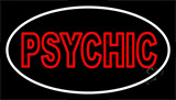 Red Double Stroke Psychic White Border Neon Sign
