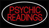 Red Psychic Readings White Border Neon Sign