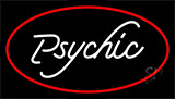 White Psychic With Red Neon Sign