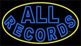 All Records Yellow Border Neon Sign