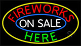 Fireworks On Sale Here LED Neon Sign