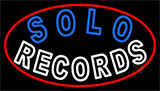 Solo Records Neon Sign