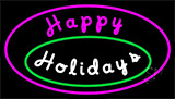 Cursive Happy Holidays LED Neon Sign