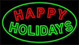 Double Stroke Happy Holidays LED Neon Sign
