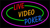 Live Video Poker With Border Neon Neon Sign