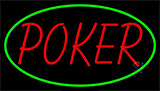Red Poker Neon Sign