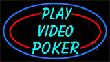 Play Video Poker Neon Sign