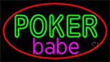 Poker Babe Neon Sign