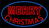Red Merry Christmas Block LED Neon Sign