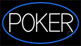 White Poker With Neon Sign
