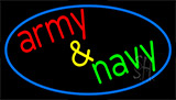 Army And Navy With Blue Neon Sign