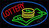 Blue Lottery Logo Neon Sign